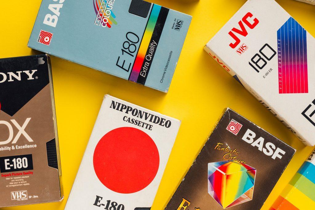 cintas vhs y beta años 80