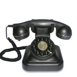 teléfono estilo retro vintage