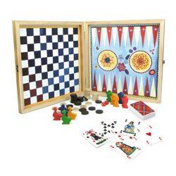caja de juegos de mesa clásicos vilac