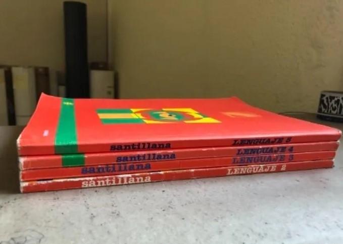 Lote libros Santillana años 80